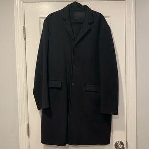 Prada Wool Mid Length Pea Coat